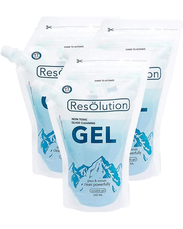 Gel Solution Glass Cleaner cleaner Resolution 3 Pack