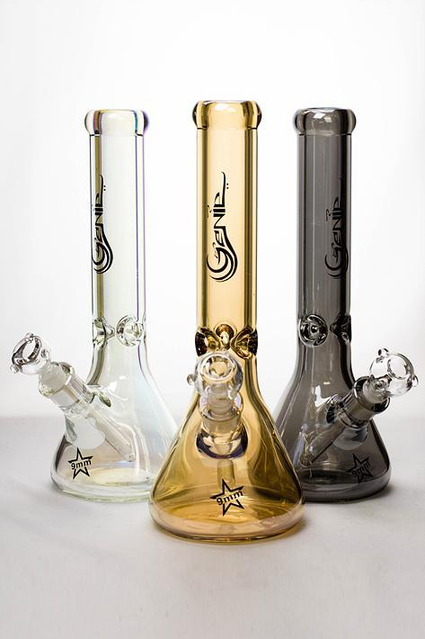 "Genie 14"" Metallic 9 mm glass beaker bong Flower Power Packages"