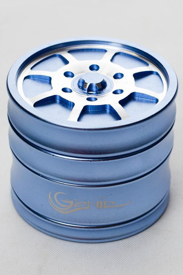 Genie 8 spoke rims aluminium grinder Flower Power Packages Blue-4626
