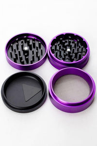 Genie High quality Aluminium 4 parts two tone grinder Flower Power Packages
