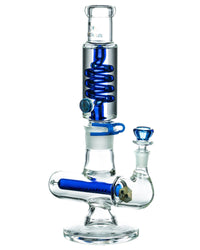 Glycerin Coil w/ Colored Inline Perc Bong - Purchase Here