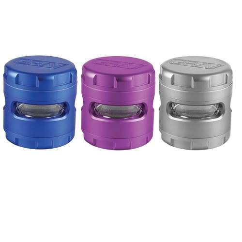 "GRAV 2.5"" 4-Piece Aluminum Herb Herb Grinder (Various Colors) Flower Power Packages"