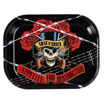 Guns N Roses Barbed Wire Rolling Tray - Small Or Medium (1 Count)