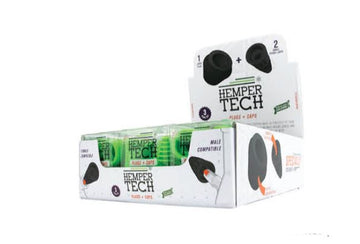 Hemper Tech Cleaning Plugs+Caps Black & Green (12 Pack Display)