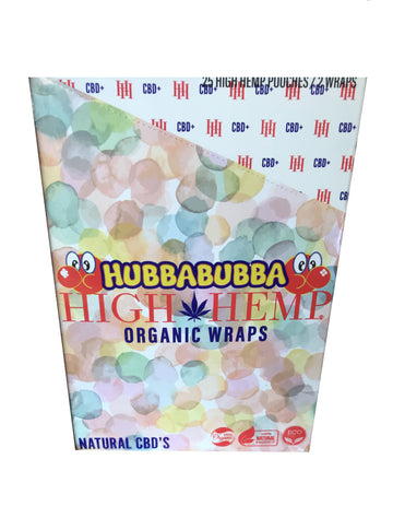 High Hemp Organic Hubba Bubba flavor Wraps (50 wraps)