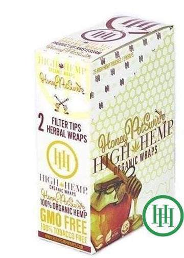 High Hemp Organic Wraps Honey (25 Count)