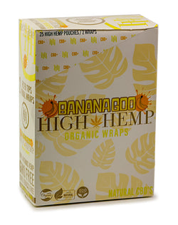 High Hemp Wraps -  Bananagoo  25 Count Box