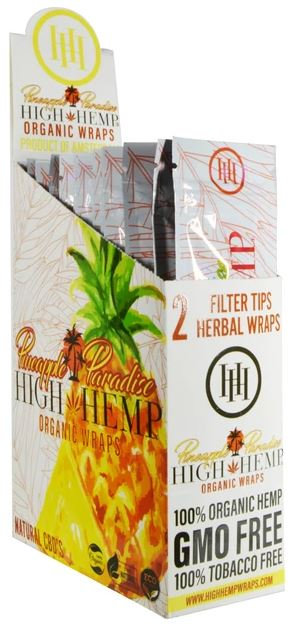High Hemp Wraps - Pineapple Paradise Flower Power Packages