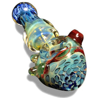 HIS AND HERS Bundle! Multi-Colored Glass Spoons with Pink and Blue Swirls at Flower Power Packages