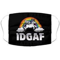 IDGAF (Unicorn) Face Mask Cover Flower Power Packages
