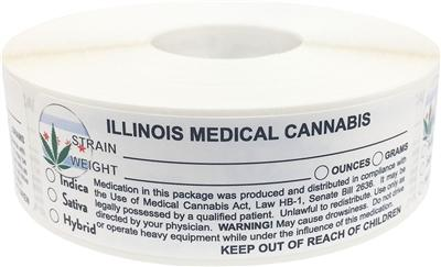 Illinois Medical Cannabis Warning Labels at Flower Power Packages