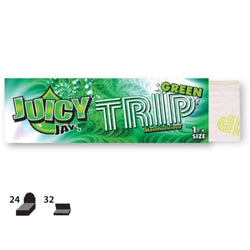 Juicy Jays Green Trip Flavored Rolling Paper 24 Count Box