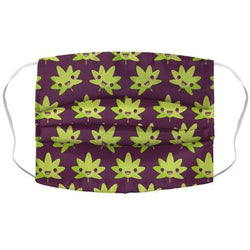 Kawaii Pot Leaf Face Mask Cover