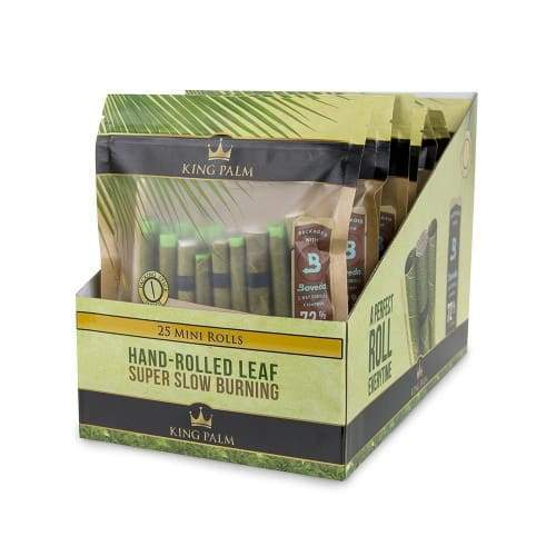 King Palm Mini Rolls Includes Boveda (8 Pouches of 25) Flower Power Packages