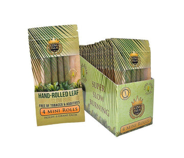 King Palm Super Slow Burning Wraps - 4 Mini Rolls (24 Count)