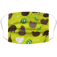 Kiwi Pattern Face Mask Cover Flower Power Packages