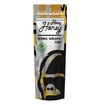 Kong Wraps Hemp Blunt Wraps - Various Flavors Available (1 Count) Flower Power Packages Hippy Honey