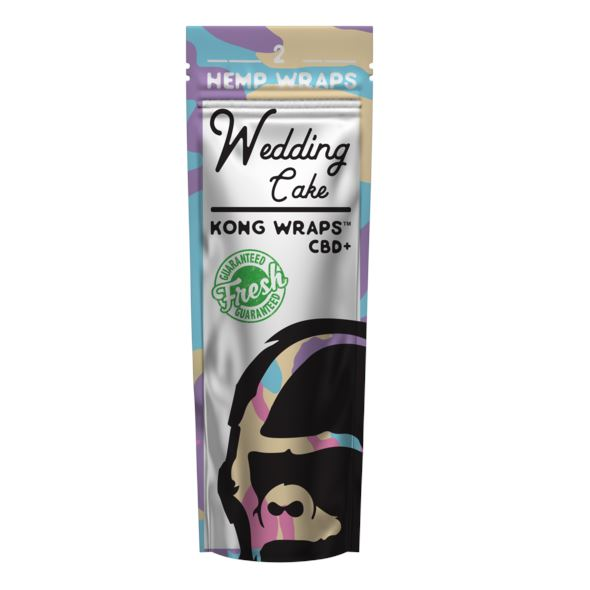 Kong Wraps Hemp Blunt Wraps - Various Flavors Available (1 Count) Flower Power Packages Wedding Cake