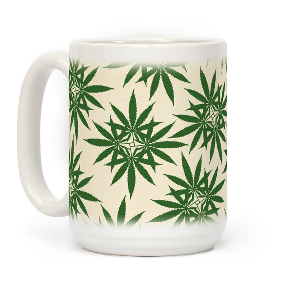 Leaf Pattern Ceramic Coffee Mug Flower Power Packages 15 Ounce