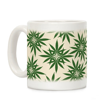 Leaf Pattern Ceramic Coffee Mug