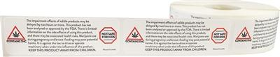 Massachusetts Cannabis Edible Impairment Warning Labels at Flower Power Packages