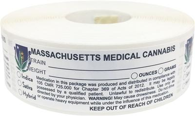 Massachusetts Medical Cannabis Warning Labels at Flower Power Packages