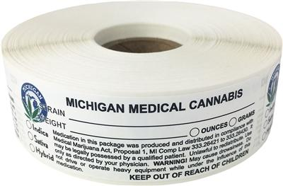 Michigan Medical Cannabis Warning Labels at Flower Power Packages