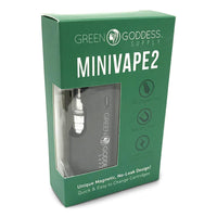 MiniVape 2 - Compact, Discreet, State-of-the-Art Oil Vaporizer (Black) Flower Power Packages