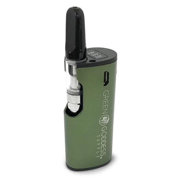 MiniVape 2 - Compact, Discreet, State-of-the-Art Oil Vaporizer (Green) Flower Power Packages