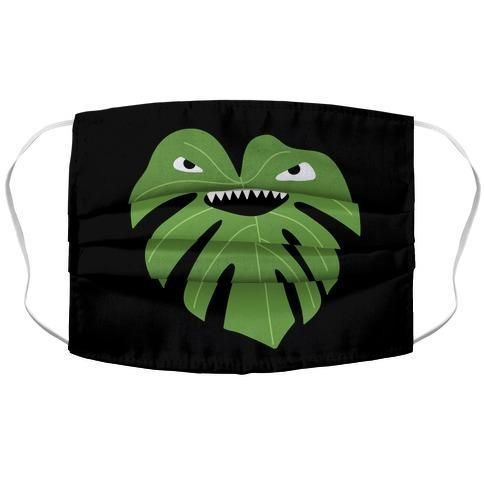 Monstera Leaf Monster Face Mask Cover Flower Power Packages