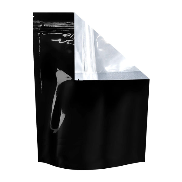 Mylar Bag Tear Notch Clear Black 1 Pound 100 COUNT Flower Power Packages