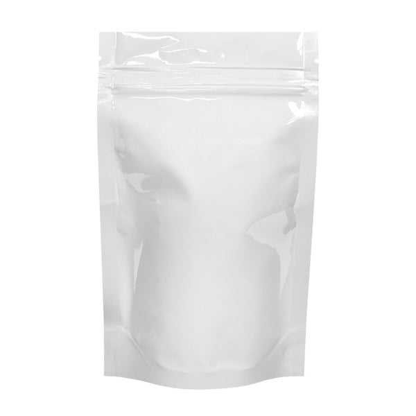 Mylar Bag Tear Notch White 1 oz 1000 COUNT at Flower Power Packages