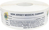 New Jersey Medical Cannabis Warning Labels at Flower Power Packages