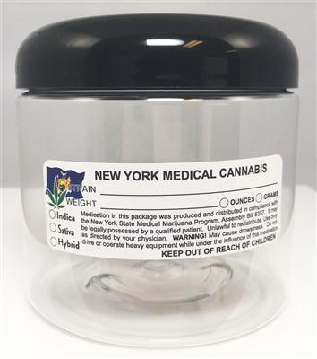 New York Medical Cannabis Warning Labels at Flower Power Packages