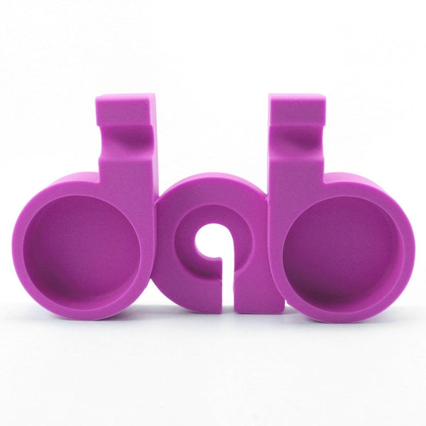 NoGoo Silicone Dab Station - Purple Flower Power Packages Default