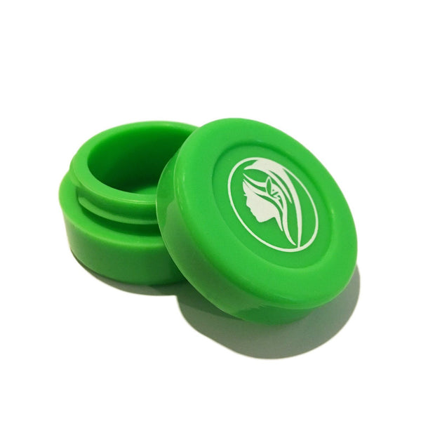 Non-Stick Silicone Wax Jar - Green Flower Power Packages