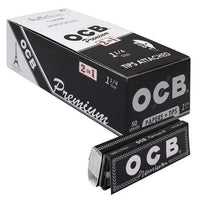 OCB Premium 2 in 1 1 1/4 Papers with Tips - 50 leaves at Flower Power Packages