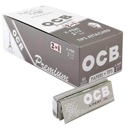 OCB Premium X-Pert 2 in 1 1 1/4 Size Papers with Tips - 50 leaves