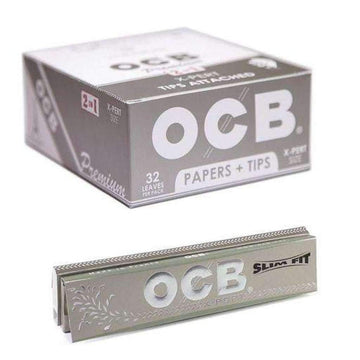 OCB Premium X-Pert 2 in 1 X-Pert Size Papers with Tips - 32 leaves