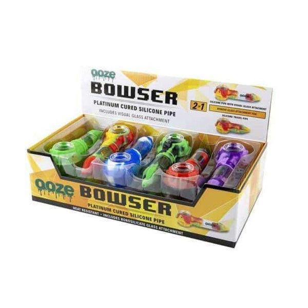OOZE-Bowser Silicone Glass Pipe Display - 12ct at Flower Power Packages
