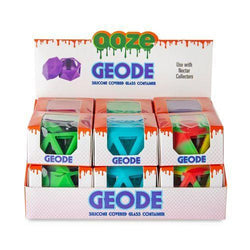 OOZE Geode Silicone Covered Glass Container - (12 Count Display)