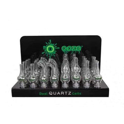 OOZE Glass Globe With Dual Quartz Coil 32 Count Display