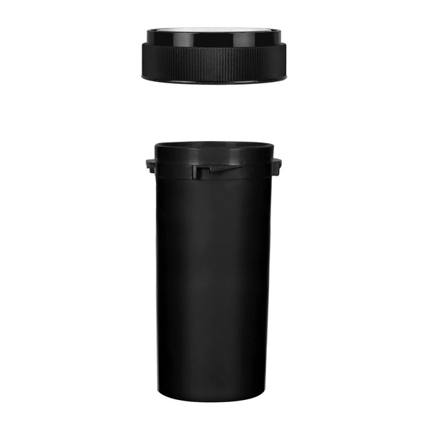 Opaque Black 30 Dram Reversible Cap Vials for Medical Pharmacies & Dispensaries at Flower Power Packages