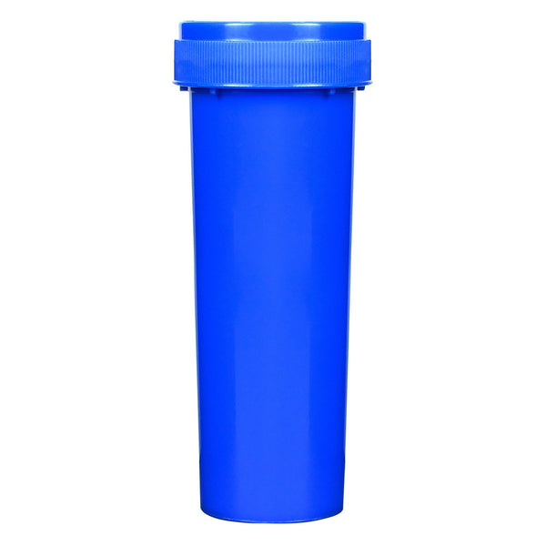 Opaque Blue 60 Dram Reversible Cap Vials for Medical Pharmacies & Dispensaries at Flower Power Packages