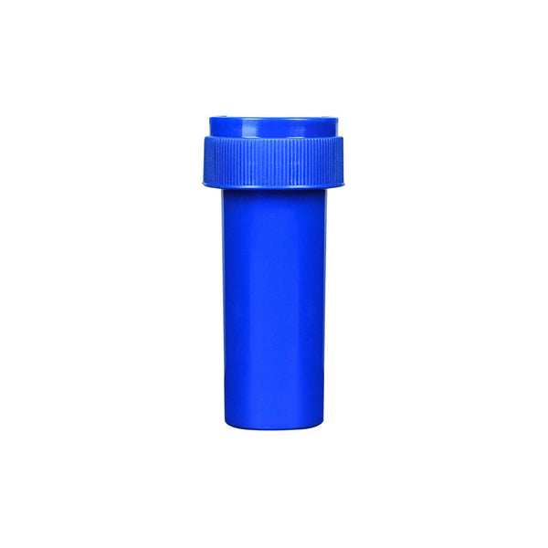 Opaque Blue Reversible Cap Vials for Medical Pharmacies & Dispensaries