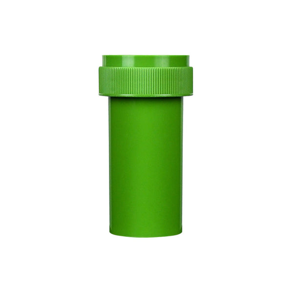 Opaque Green 13 Dram Reversible Cap Vials 275 COUNT at Flower Power Packages