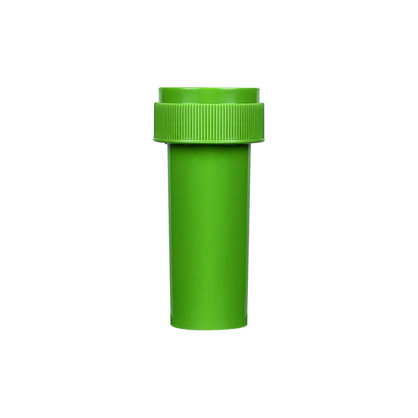 Opaque Green 40 Dram Reversible Cap Vials 150 COUNT at Flower Power Packages