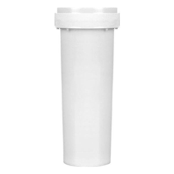 Opaque White 60 Dram Reversible Cap Vials 100 COUNT at Flower Power Packages