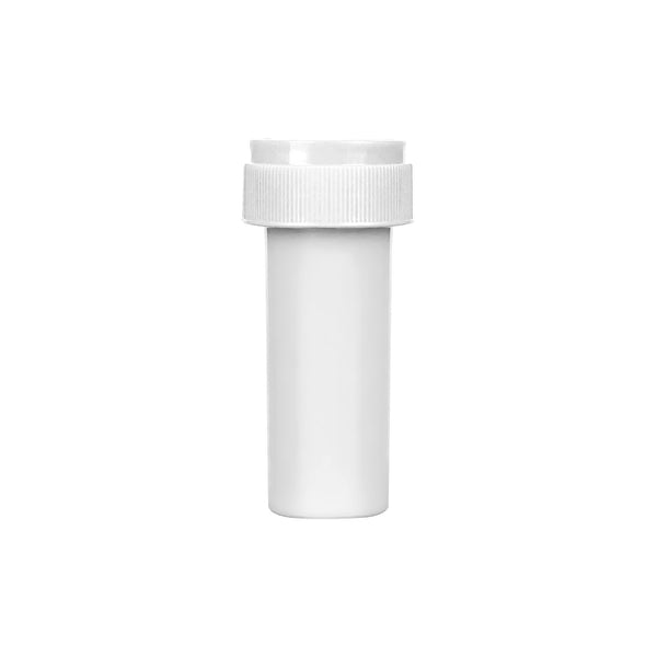 Opaque White 8 Dram Reversible Cap Vials  410 COUNT at Flower Power Packages