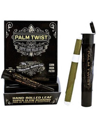 Palm Twist 100% Natural Hand Rolled Leaf Wraps - Display Of 50 Tubes Flower Power Packages